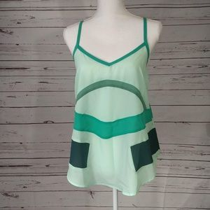 PKJ Patterson J Kincaid NWOT Green Colorblock Cami